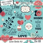 Love Birds Kit with Word Art
