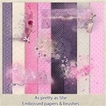 As pretty as she - brushes & embossed free