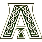 Celtic Alphabet Green