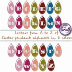 Easter pendant alphabet in 6 colors