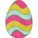 Felt Striped Egg
