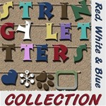 Stringy Letters - Red White & Blue Collection