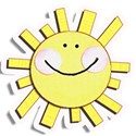 smiley sunsticker