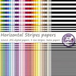 Horizontal Stripes digital papers
