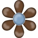 CK5e Flower Brown ScrapGraphicsDotCom