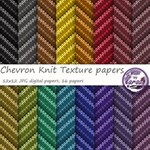 Chevron Knit Texture Digital Scrapbooking Papers