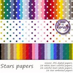 Stars Digital Scrapbooking Papers