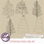 Christmas Trees clip art