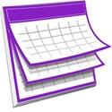 Purple Calendar image