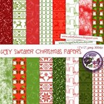 Ugly sweater Christmas papers