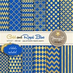 Royal Blue and Gold Papers