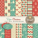 Retro Christmas Papers