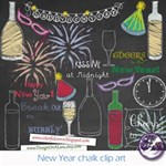 New Year Chalk clipart