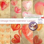 Vintage Hearts Papers
