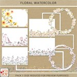 Floral Watercolor Pack 1
