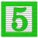 green_alpha_num_5