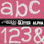 White Glitter Alpha by Mikki