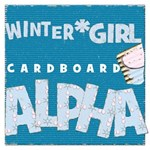 Winter girl cardboard alpha add on