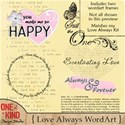 Love-Always-WordArt-Preview