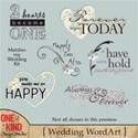 Matching Wedding WordArt Preview