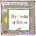 My Book of Colors -  enough pages for 2 books!