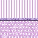 PURPLE POLKA STRIPE 12X12