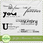 yuyu memories wordart