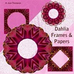 Dahlia frames & Backgrounds
