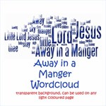 Away in a manger wordart